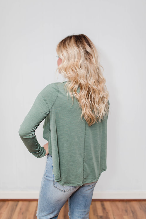 Free People Olive Top