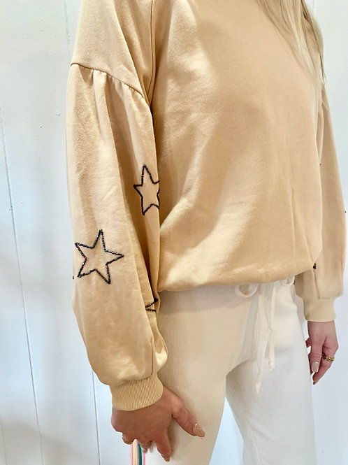 Lush Star Puff Sleeve Sweater