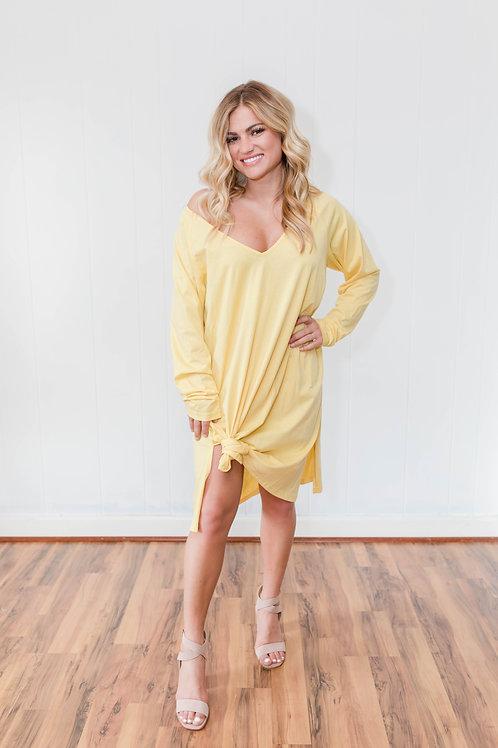 Yellow T Shirt Dress