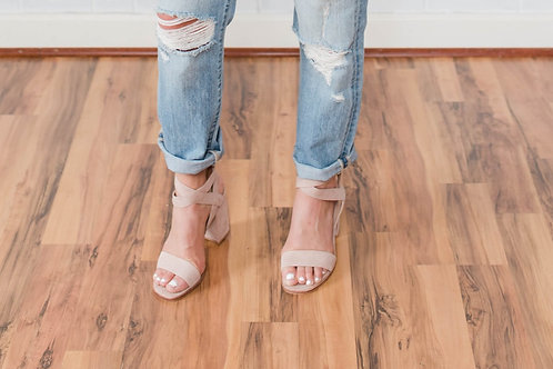 Strappy Nude Sandals