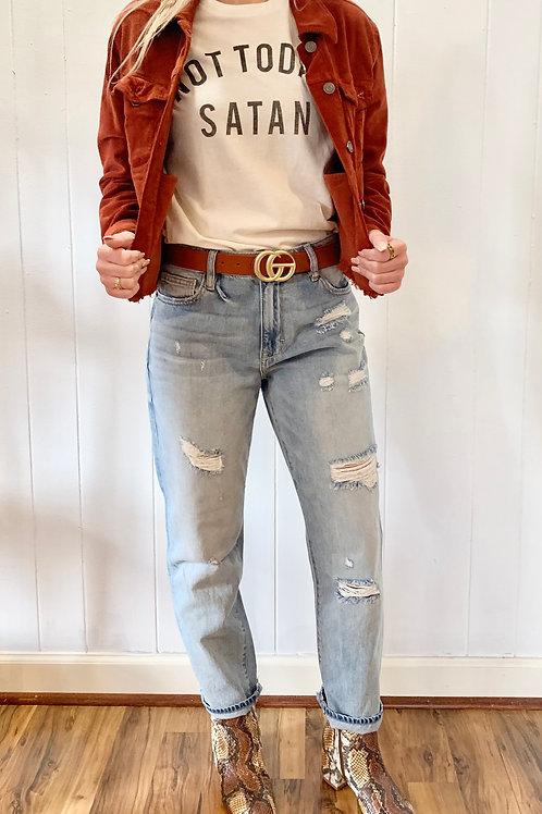Tracey High Rise Straight Crop Hidden Jean