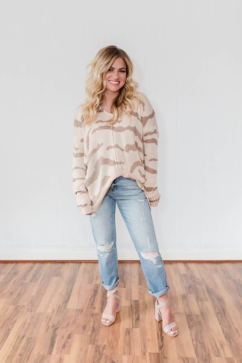 Zebra Summer Sweater