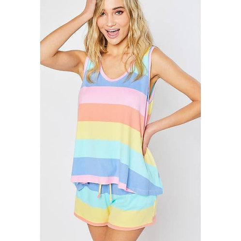 Super Soft Rainbow Stripe Top
