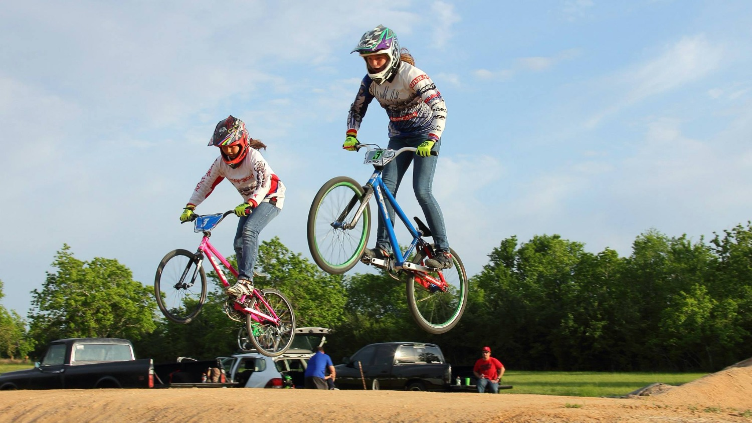 Girls fly high at Pearland BMX