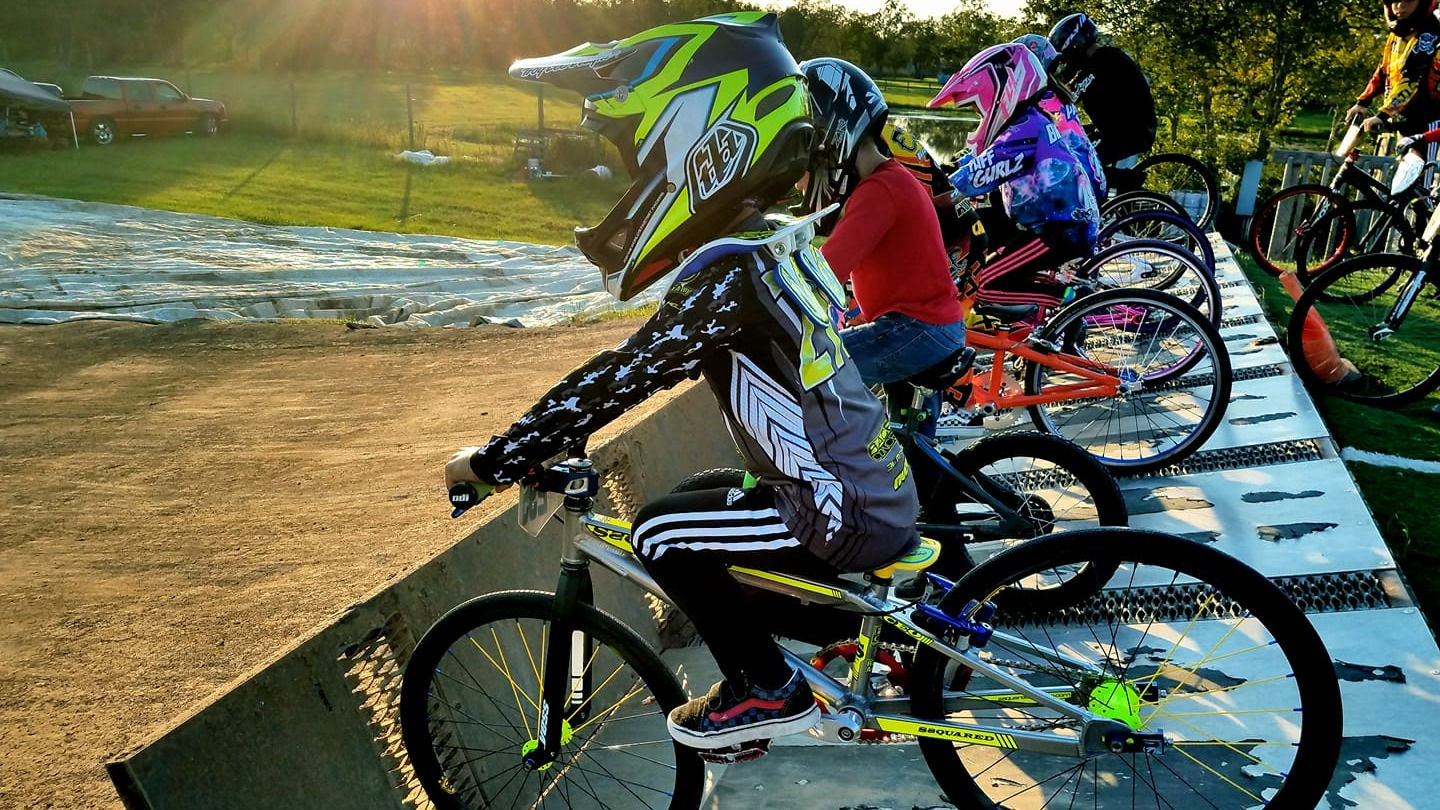On the gate at Pearland BMX