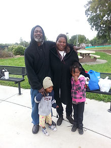 one of the families tha sleep in thepark in vallejo ca. 94589