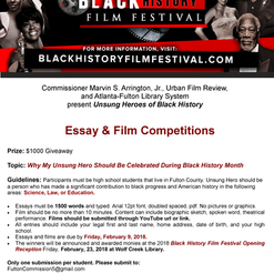 2018 BHFF Student Competitions