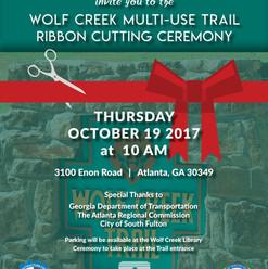 Ribbon Cutting  Wolf Creek Trail