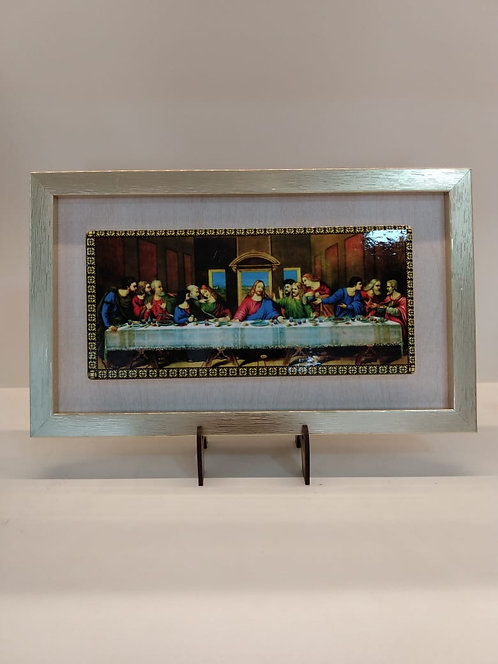 Quadro Santa Ceia - 10 cm X 15 cm