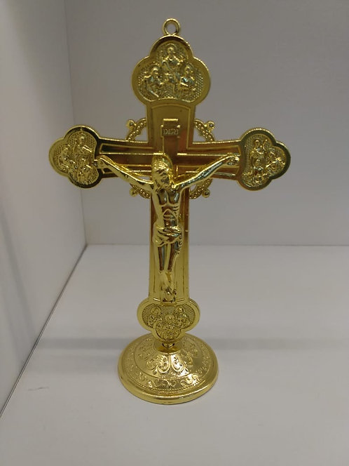 Crucifixo Metal para mesa - 15 cm