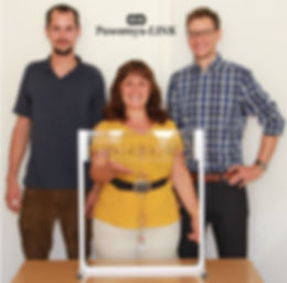 Powersys-LINK founders Daniel-Leon Schultis, Albana Ilo, Christian Schirmer
