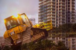 Bulldozers at Dawn #1
