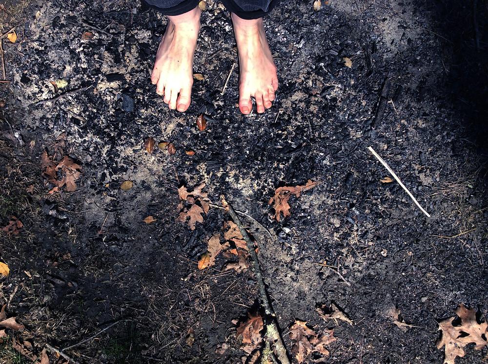 """Standing in A Burn Pile... "" - Beth Adoette"