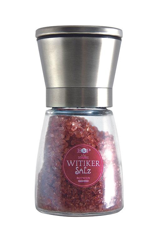 Witiker Salz mit Rotwein, 150g in Mühle