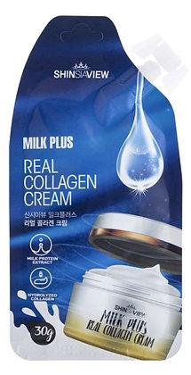 Крем для лица с коллагеном  Shinsiaview Milk Plus Real Collagen Cream