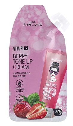 Крем для лица, выравнивающий тон  Shinsiaview Vita Plus Berry Whitening Tone-up