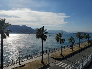 関門海峡と巌流島