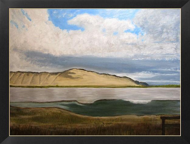 Sunlit Sheep Mountain Framed.jpg