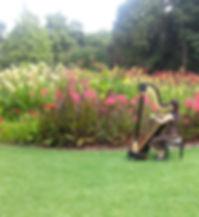 Harp music Royal botanical gardens, Harp music Melbourne, Wedding music melbourne, harpist in melbourne