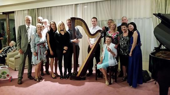 Harpist harp music for parties melbourne