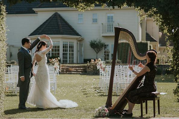 Harpist harp music Victoria