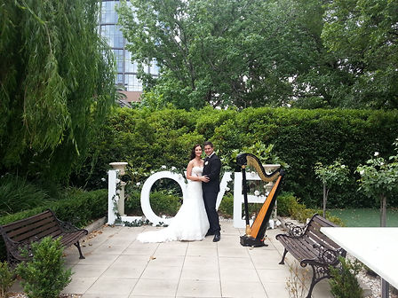 Harpist, Harp music for weddings regional victoria