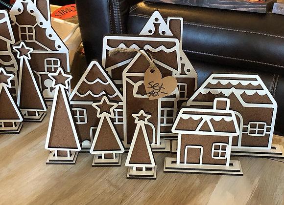 Realistic Gingerbread Village