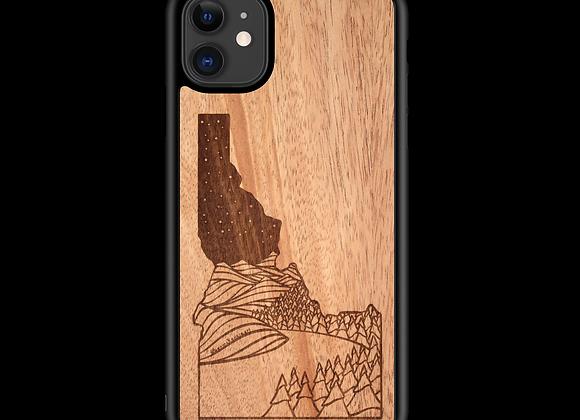 Idaho State Night Landscape Wooden Phone Case