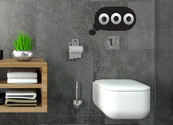 Text Bubble Toilet Paper Holder