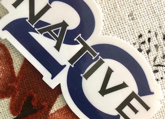 "County ""Native"" Sticker"