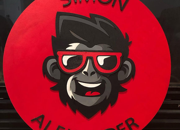"14-24"" Monkey Themed Name Sign"