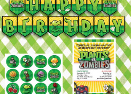 Plants vs Zombies Party Pack