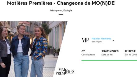 Campagne de financement Matières Premières réussie ! Prêt.e.s à Changer de MO(N)DE avec nous ? 🚀