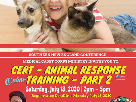 CERT ANIMAL RESCUE PART 2 SESSION INFO UPDATED!