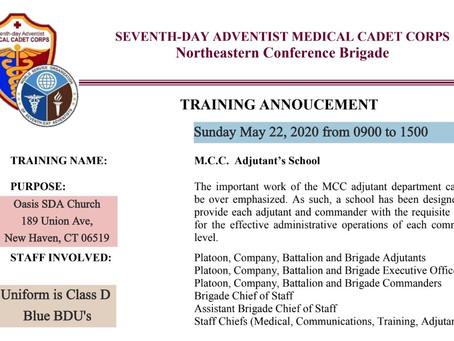 MCC Adjutant Training School has been announced!