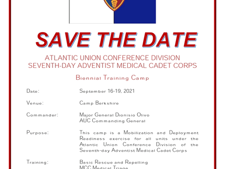 AU TRAINING CAMP! SAVE THE DATE!