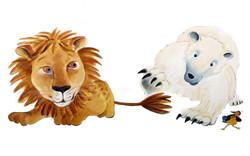 Le lion et l'ours polaire