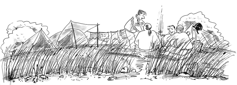 Camping sur la dune