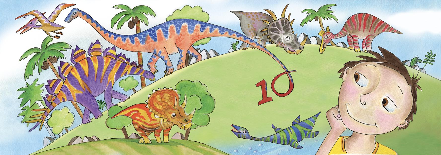 Dis dix dinosaures (couverture)