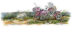 La moto sur la dune
