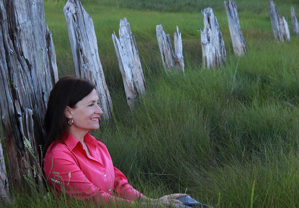 Diane Carmel Léger, old breakwater, Memramcook, NB. Canada