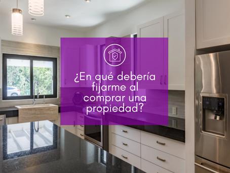 7 puntos importantes a considerar para comprar una propiedad