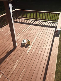 professional deck staining