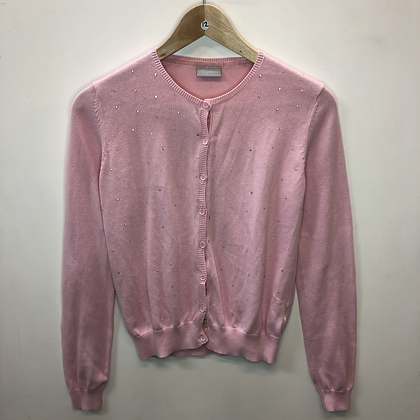 Cardigan - Pink with silver dots - Age 12