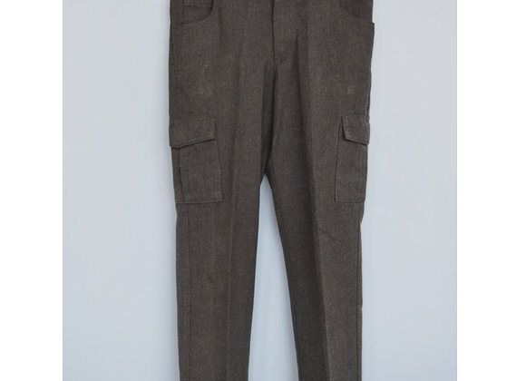 Trousers - Grey, combat style with adjustable waist (George)