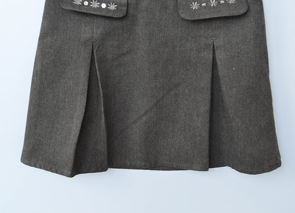 Skirt - Grey with flower detail (M&S)