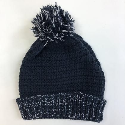 Bobble Hat - Blue Knit
