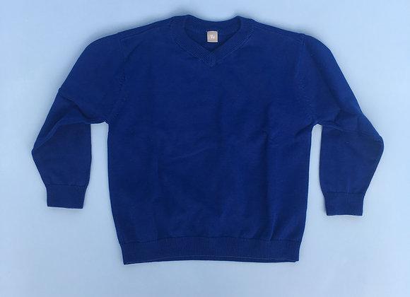 Blue V-neck Jumper - TU