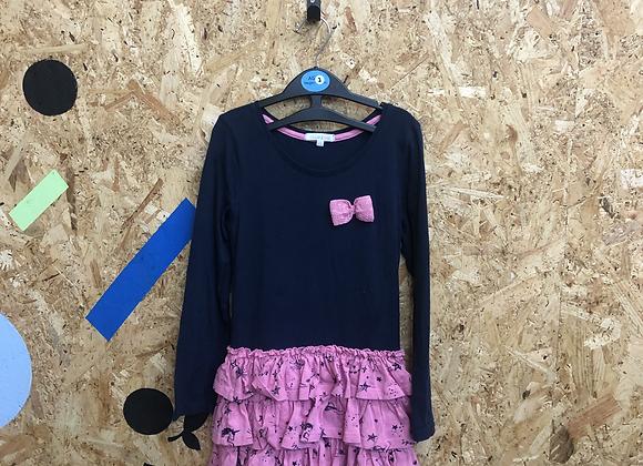 Dress - Navy & pink - Age 7