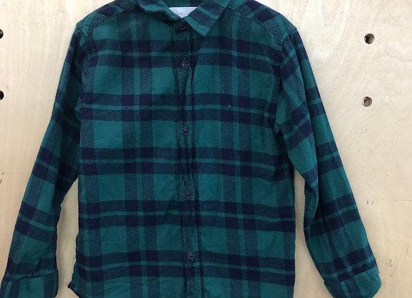 Shirt - Green and Blue Plaid - Age 6